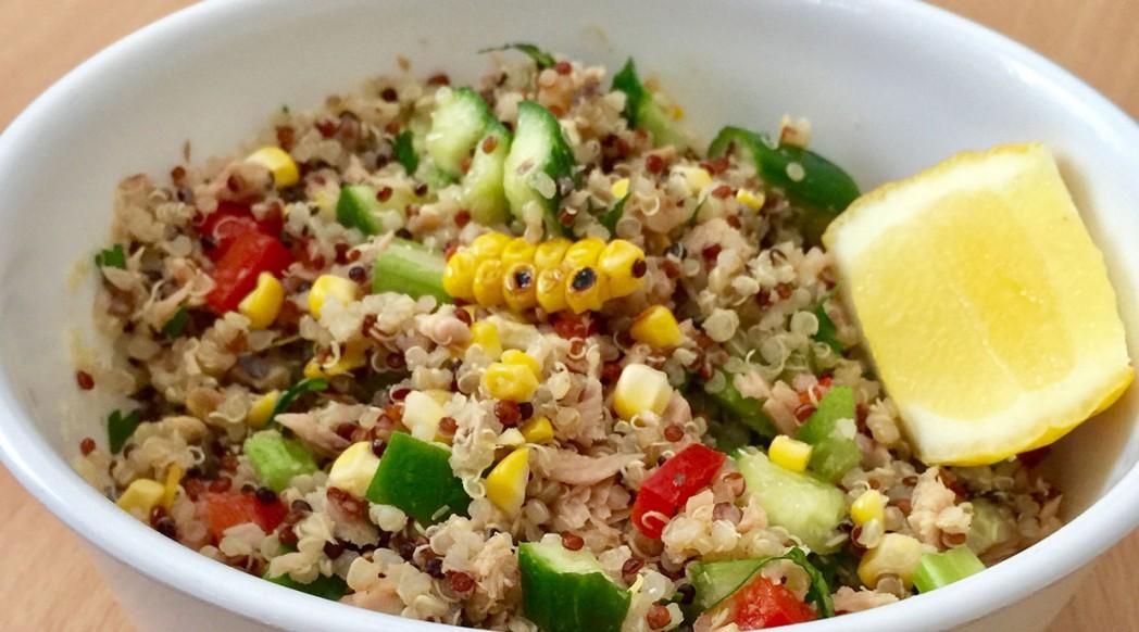 Maria's Recipes: Quinoa Vegie Salad with Bagna Cauda Dressing