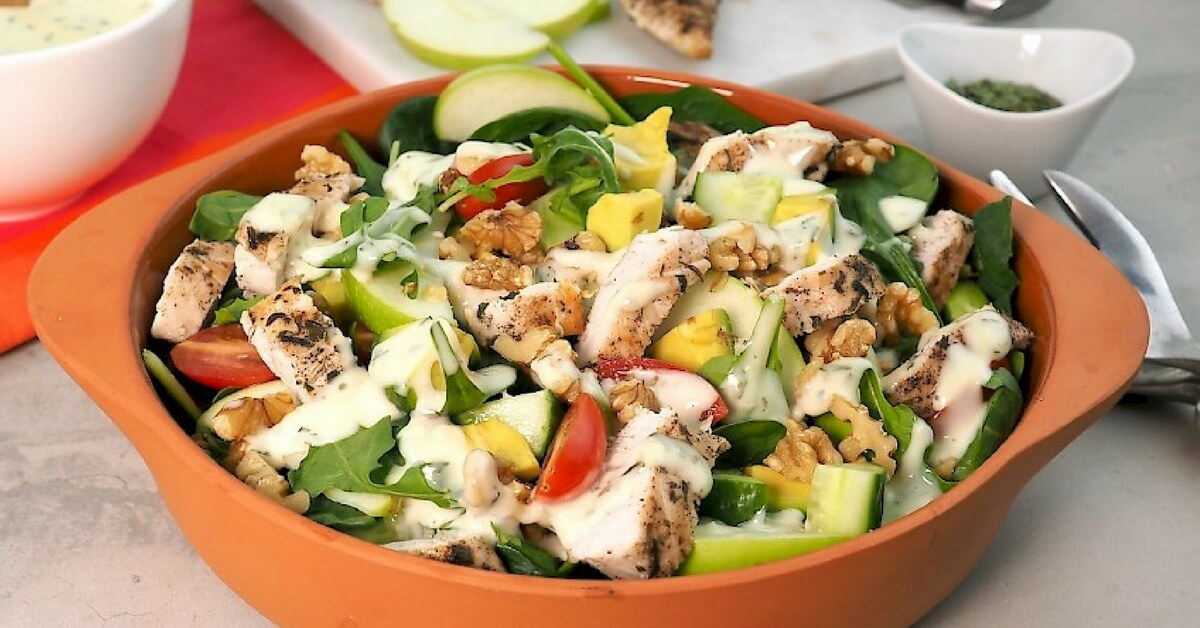 tarragon chicken waldorf salad