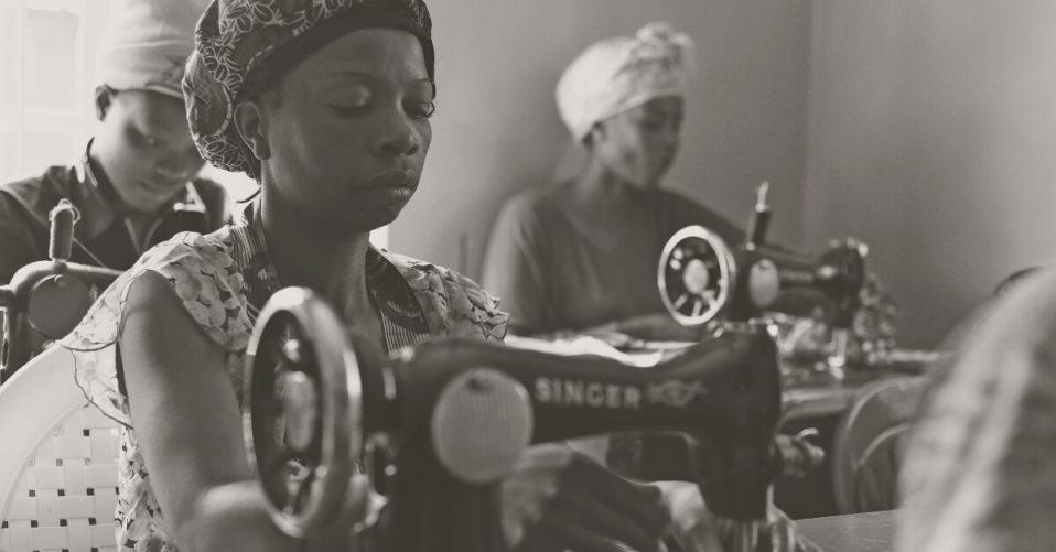 Women in the Mathare Women Rehabilitation and Empowerment training program