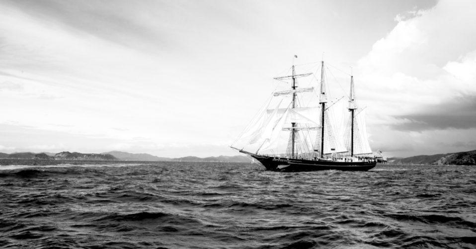 sail ship at sea