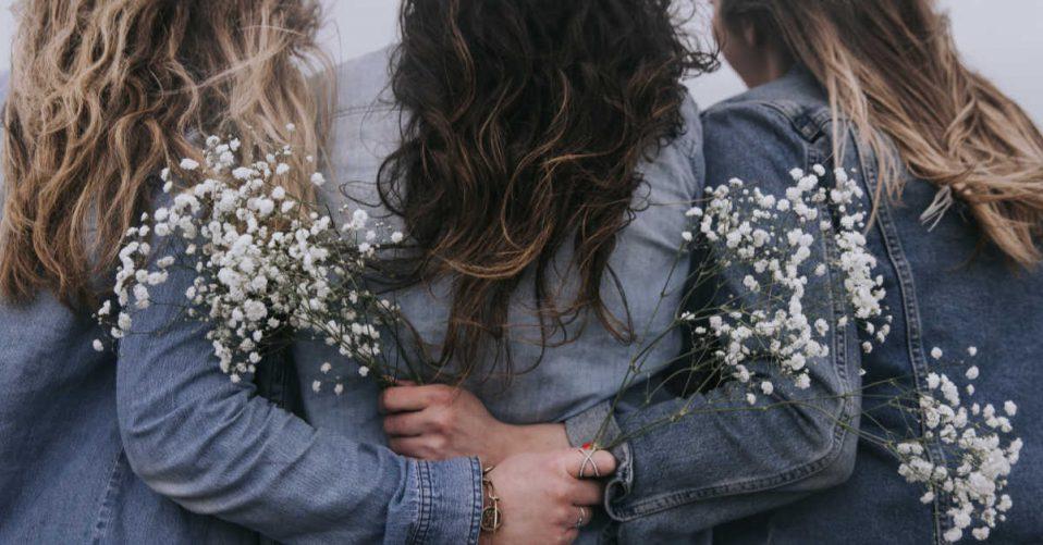 Women huddling together