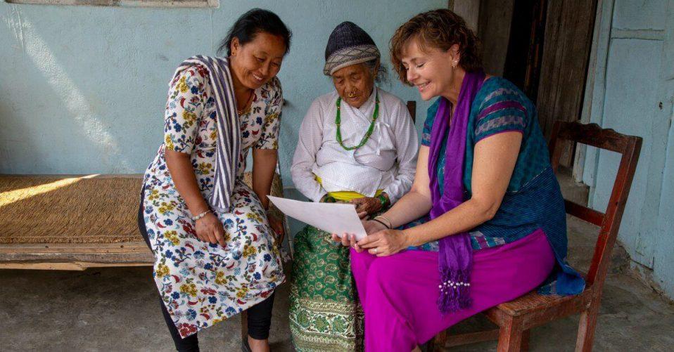 Lyn Wake in Nepal