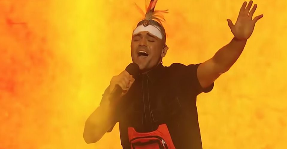 Mitch Tabo Performing 'You're the Voice' in native language on AGT