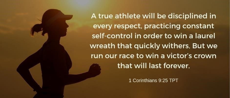 Athlete runs