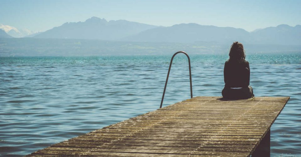 Sitting alone on the dock