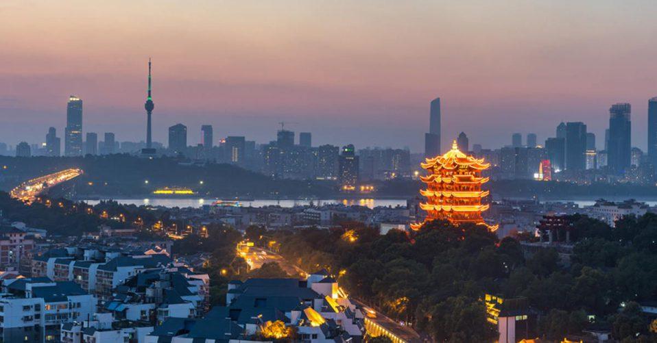 Wuhan skyline and Yangtze river