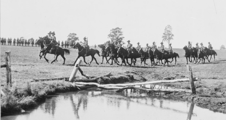 he 12th Light Horse Regiment in training at Holsworthy, NSW, 1915