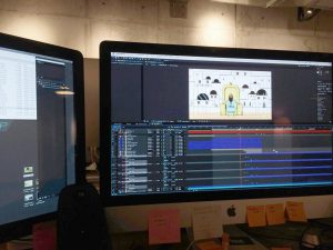 animation being created on computer