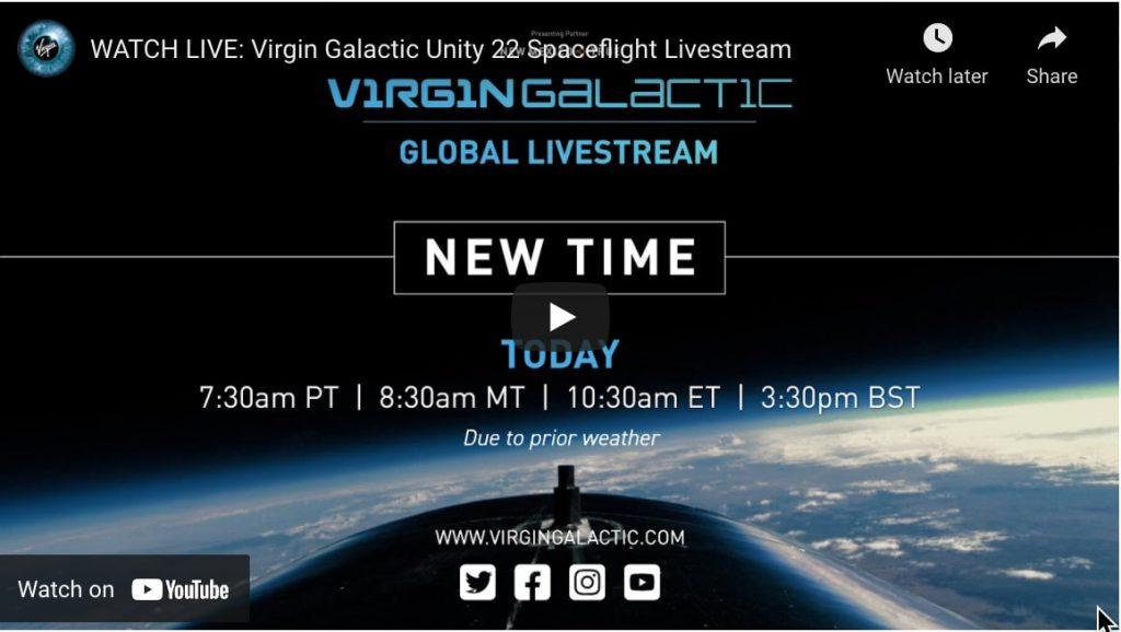 virgin galactic unity 22 space flight live stream
